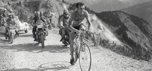 Louison Bobet Racing in 1954 Tour de France