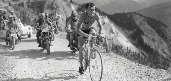 Louison Bobet Racing in 1954 Tour de France
