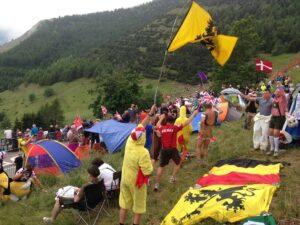 Crisol de banderas y la franquicia flamenca no podía faltar