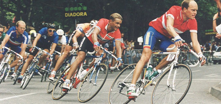 TOUR DE FRANCE BJARNE RIIS LAURENT FIGNON ACTION