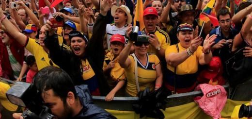 Giro dÕItalia 2014 - 97a Edizione - 21a tappa Gemona - Trieste 172 km - 01/06/2014 - Tifosi Colombia - foto Ilario Biondi/BettiniPhoto©2014