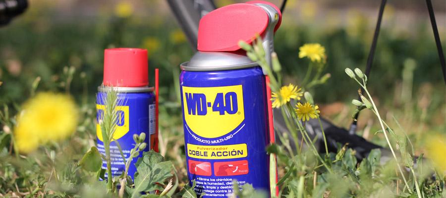 Con WD40 se lubrica y protege las partes débiles de la bicicleta