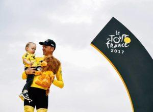 Froome en el podio del Tour
