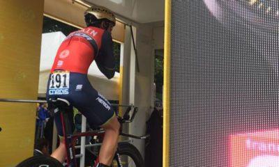 Ion Izagirre en la salida del Tour de Francia