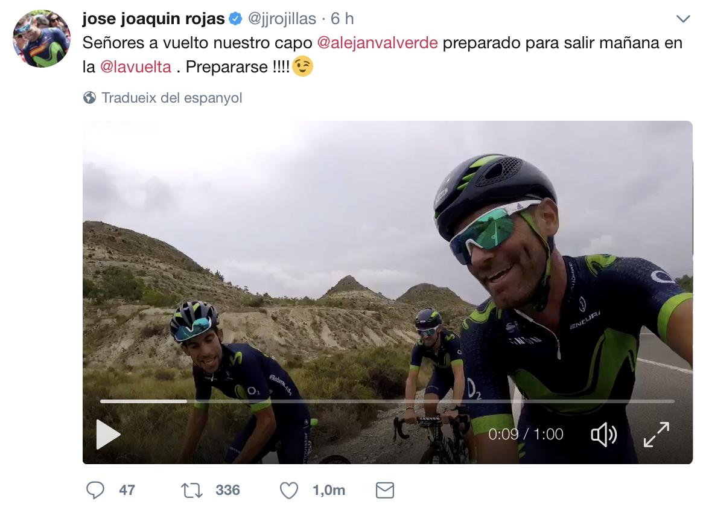 Jose Joaquin Rojas con Alejandro Valverde recuperado