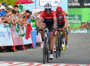 Alberto Contador es protagonista de la Vuelta