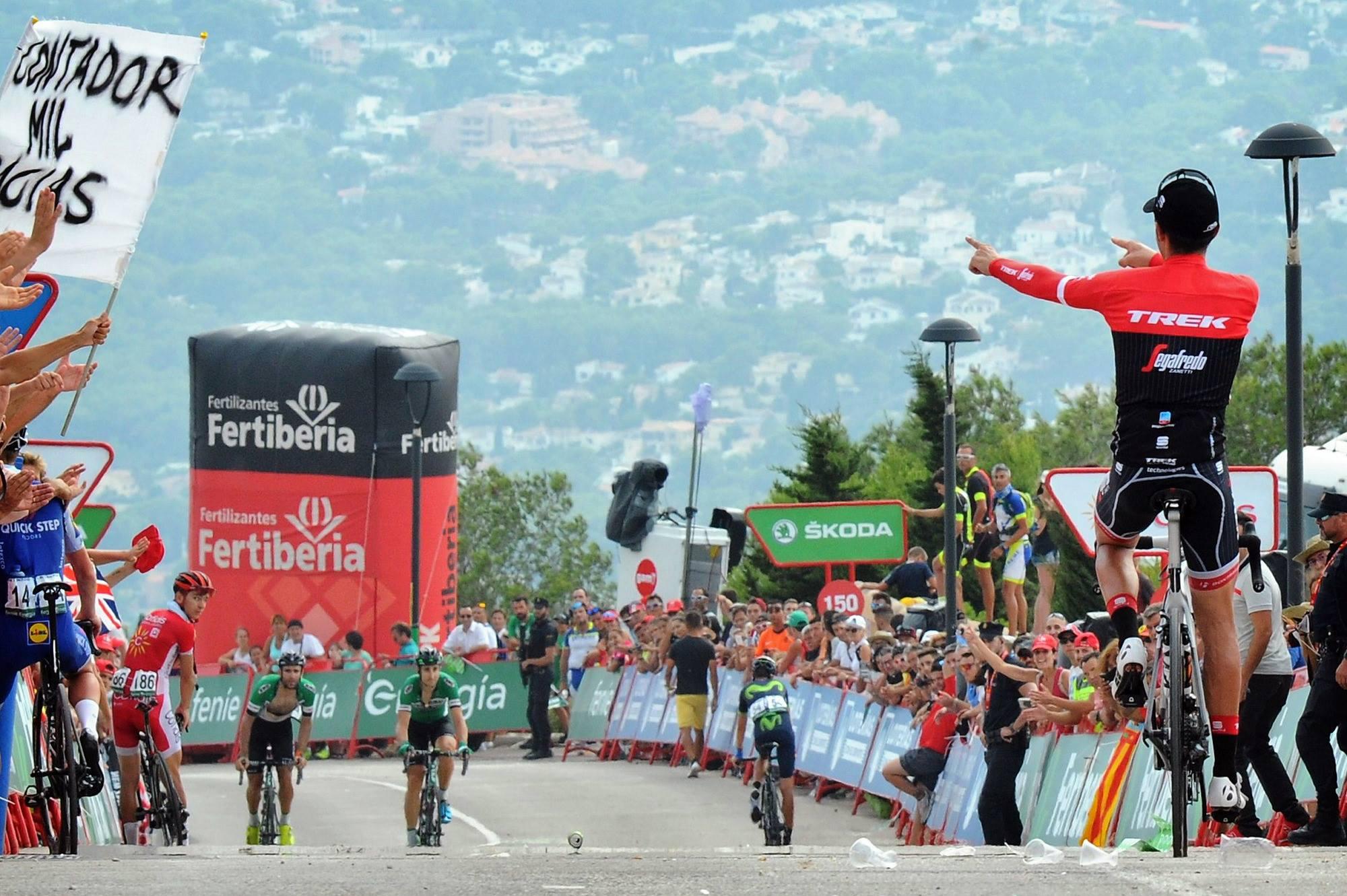 Alberto Contador se despide en la Vuelta a España