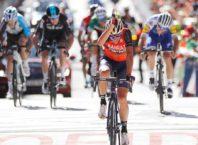 Vincenzo Nibali ganando la etapa de Andorra en la Vuelta a España