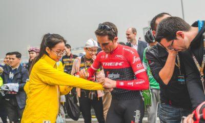 Alberto Contador en la carrera de su retirada