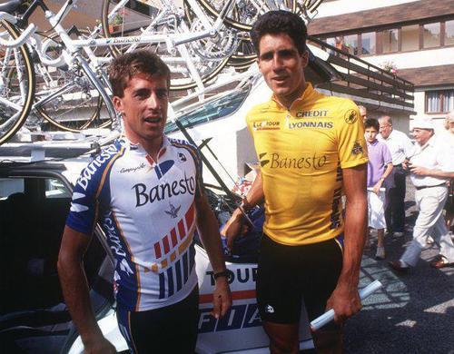 Ciclistas Perico e Indurain JoanSeguidor