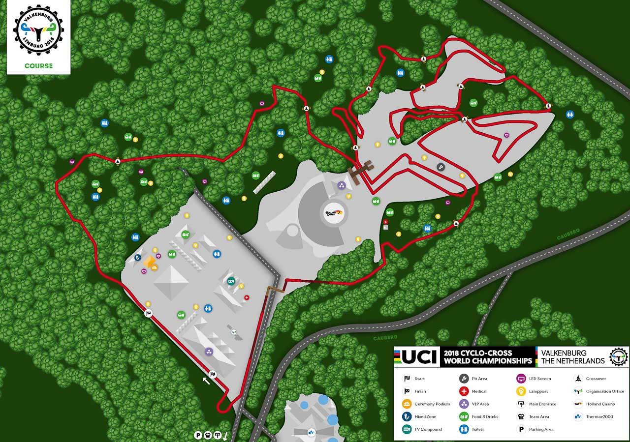 circuito de Valkenburg campeonato del mundo de ciclocross cx