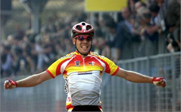 Mundial de ciclismo- Verona Oscar Freire JoanSeguidor