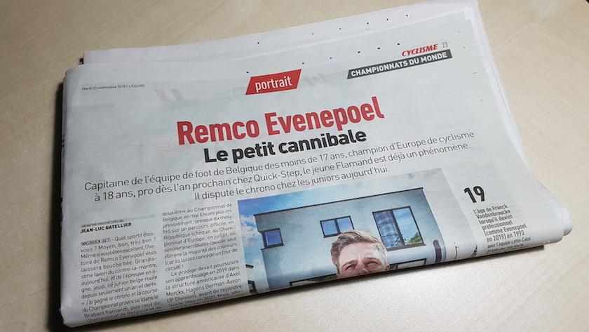 Remco Evenepoel Equipe JoanSeguidor