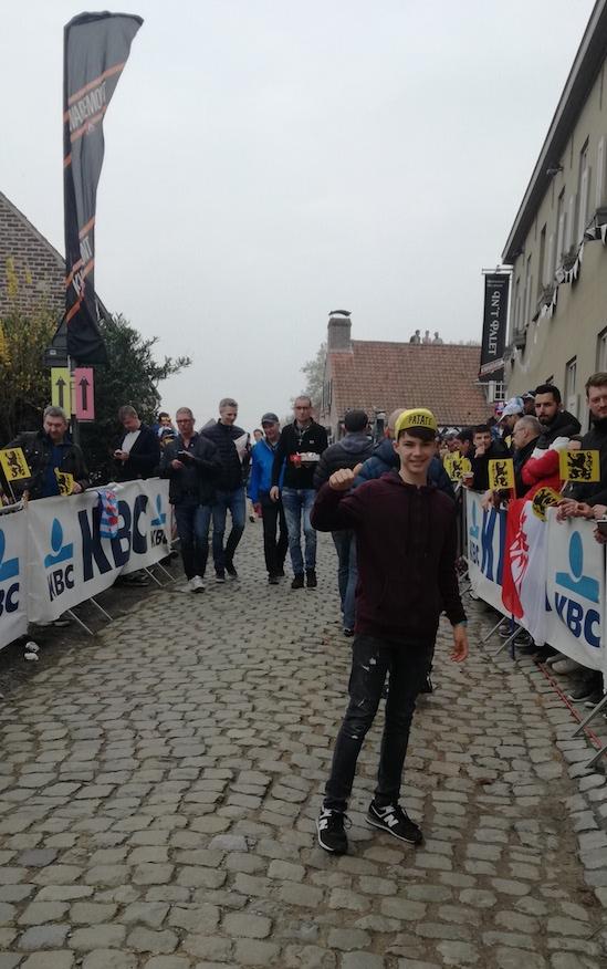 Flandes ciclista muro