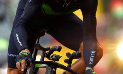 Alejandro Valverde ha corrido unos pocos kilómetros antes de abandonar el Tour de Francia en Dusseldorf
