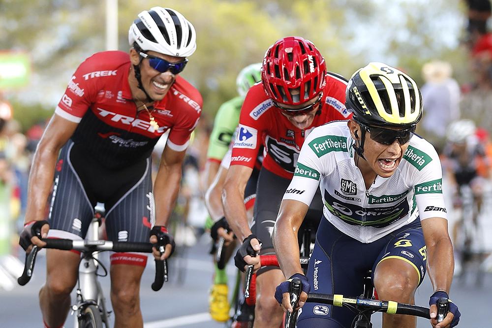 Esteban Chaves con Froome y Contador en la Vuelta a España