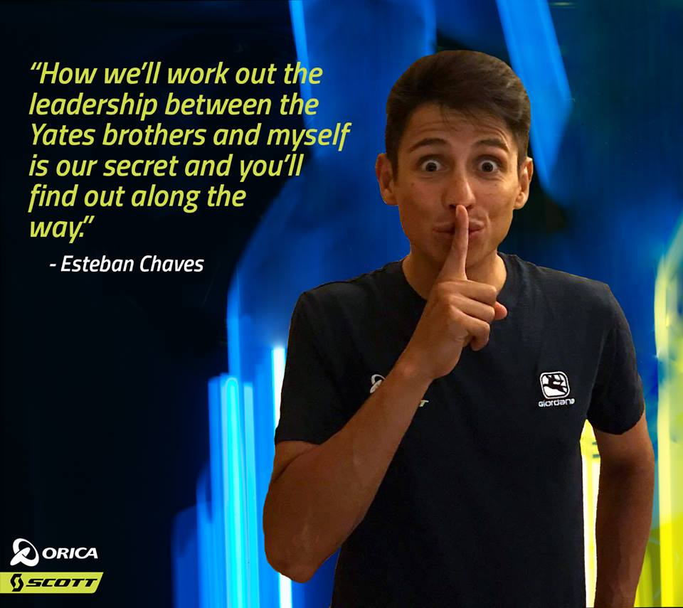 Esteban Chaves antes de La Vuelta