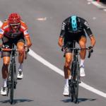 Chris Froome con Wouter Poels en la Vuelta a España