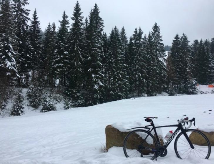 Bicicleta con nieve JoanSeguidor