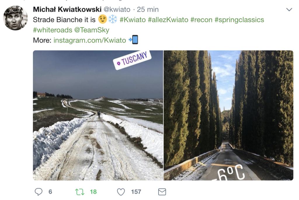 Strade Bianche Kwiatkowsi JoanSeguidor