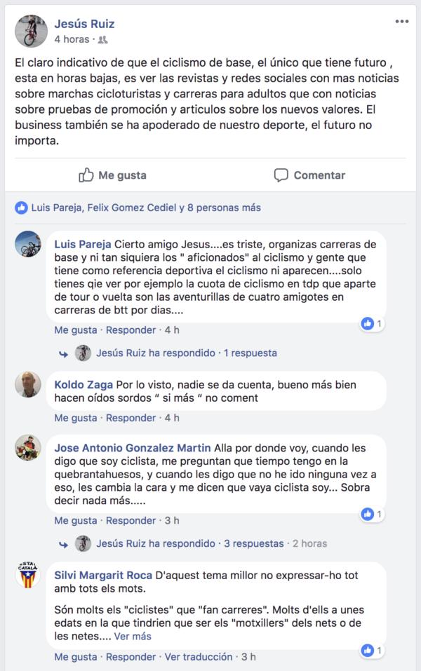 Ciclismo base Facebook  JoanSeguidor