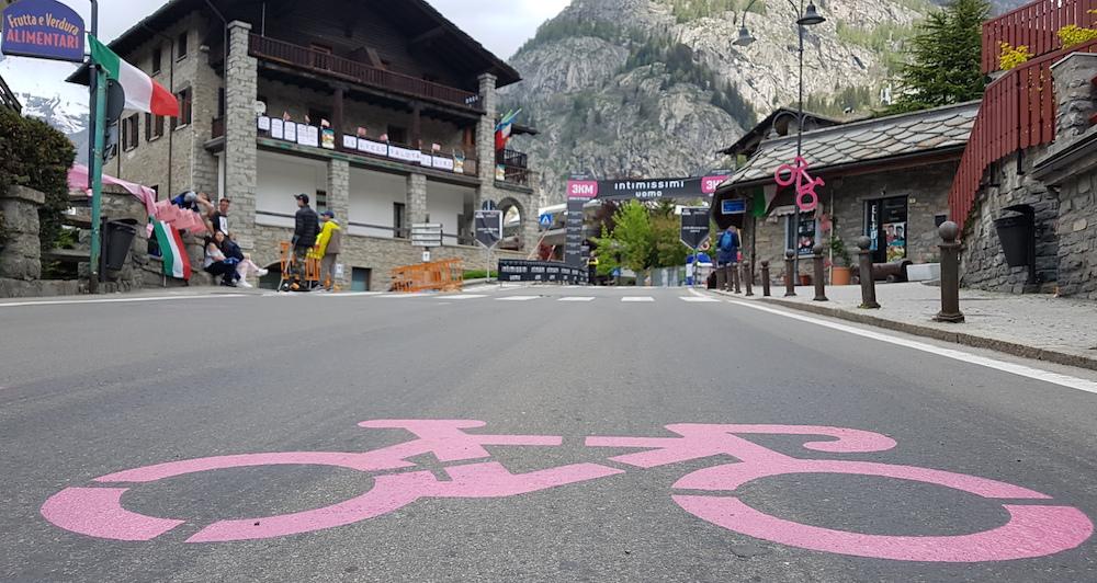 Giro de Italia Courmayeur tres kilometros JoanSeguidor