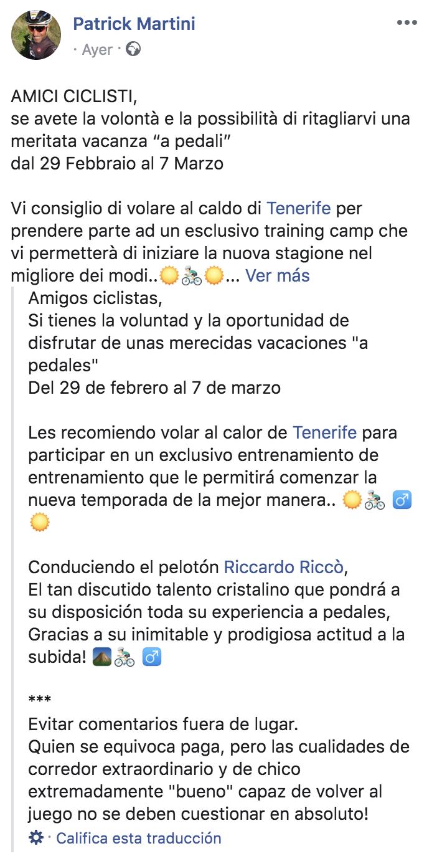 Riccardo Ricco Campus tenerife JoanSeguidor