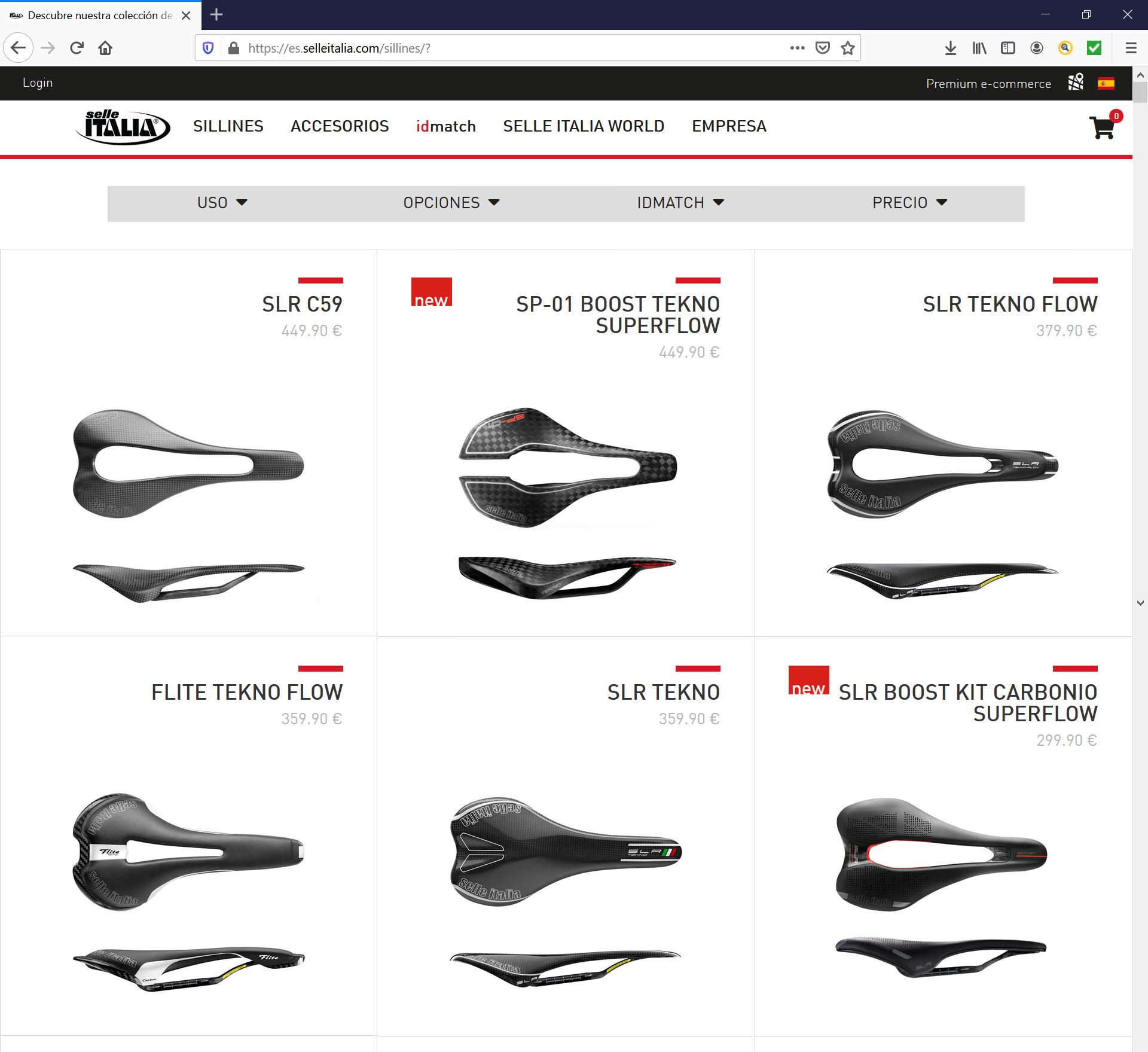 Selle Italia tienda on line